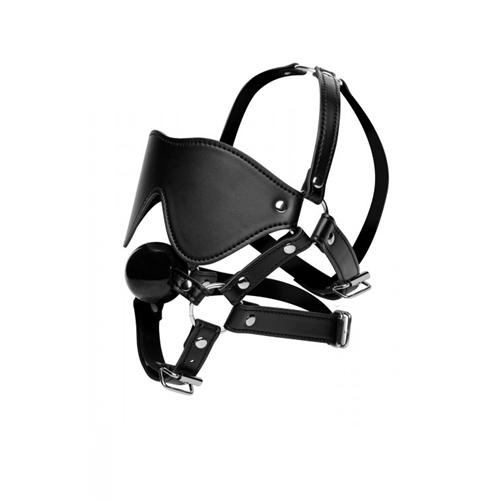 Erotična maska z mašilom za usta | GAG bondage