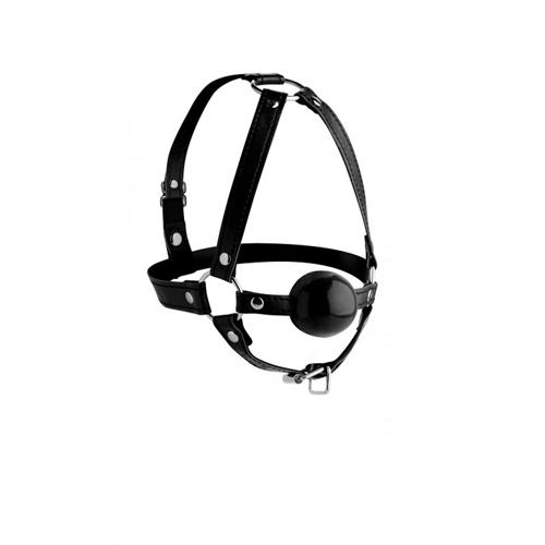 Erotična maska z žogico za mašitev ust