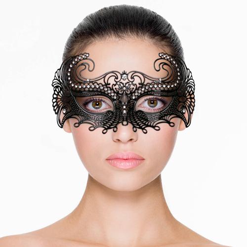 Erotična maska | kovinska | črna