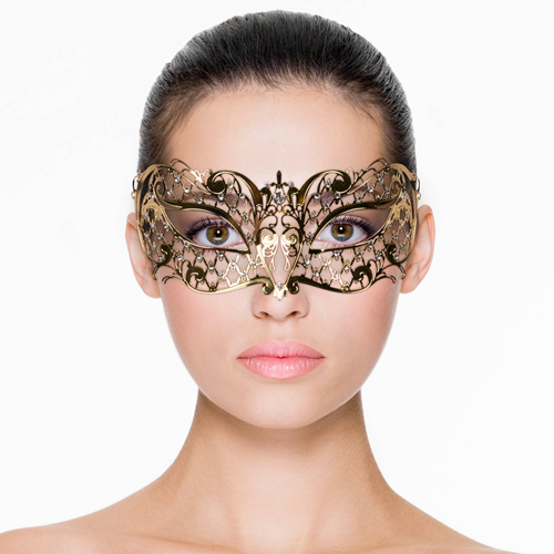 Erotična zlata maska | kovina