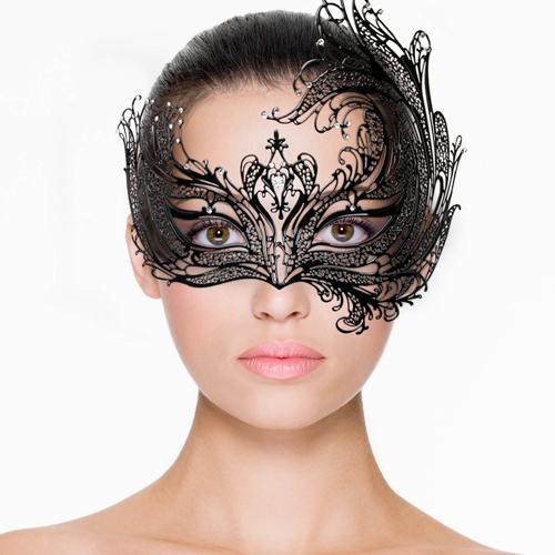 Erotična maska | kovinska | asimetrična