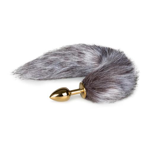 Analni čep z repom srebrne lisičke | 40cm