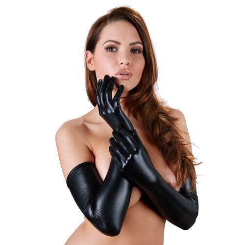 Erotične dolge rokavice | mokri videz