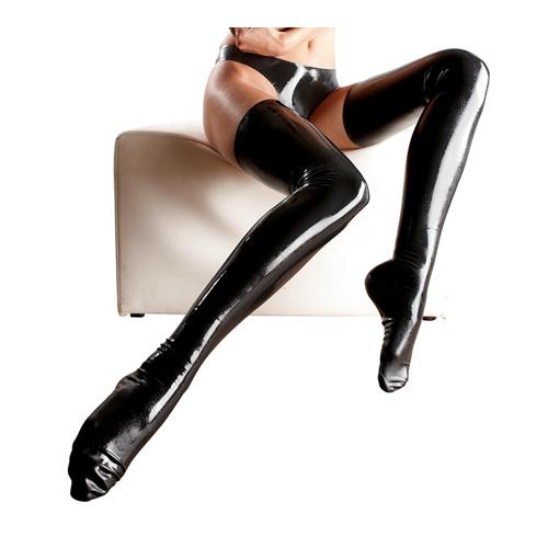 Erotične latex nogavice | črna barva