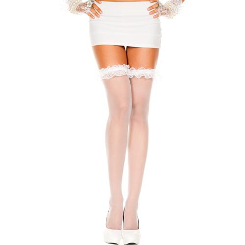 Erotične nogavice | prosojne | bele