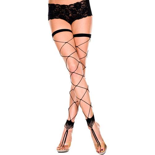 Erotične nogavice | minimalistične | črne