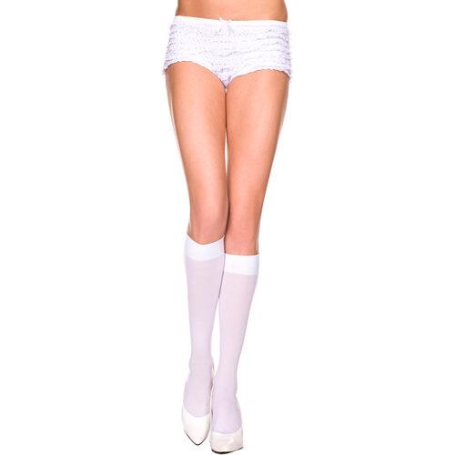 Erotične dokolenke | nogavice | bele
