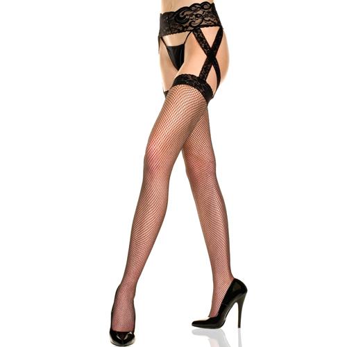 Erotične nogavice | mrežaste | suspender
