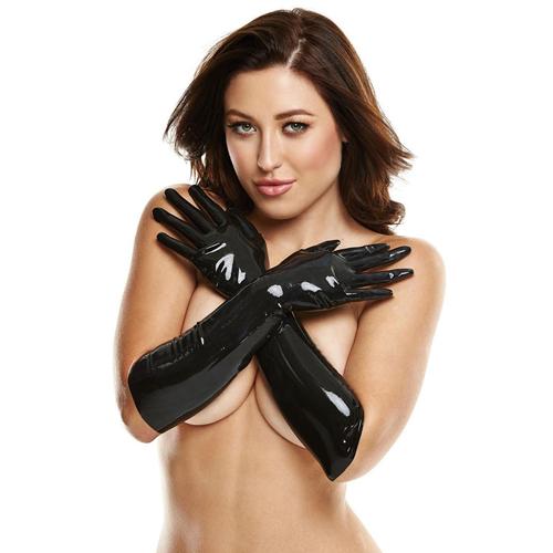 Erotične lateks rokavice | črne