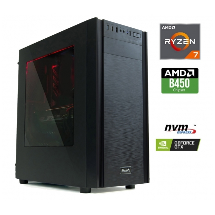 Gaming računalnik MEGA 6000X Ryzen 7-2700 | GTX1650 4GB